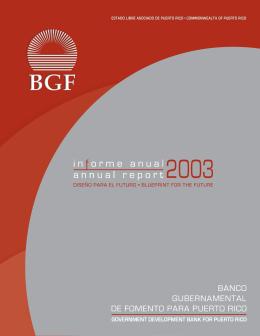 Informe Anual del Año Fiscal 2003