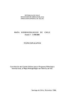 Mapa hidrogeológico de Chile, escala 1:2.500.000: texto explicativo