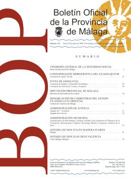 Boletín Oficial de la Provincia de Málaga