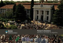 Pensar la dictadura: terrorismo de Estado en Argentina