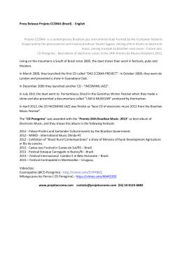 Press Release Projeto CCOMA (Brazil)