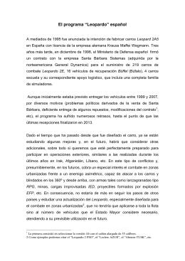 """El programa """"Leopardo"""" - Regimiento """"Numancia"""""""