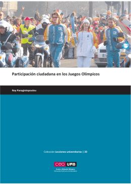 Participación ciudadana en los Juegos Olímpicos - CEO-UAB