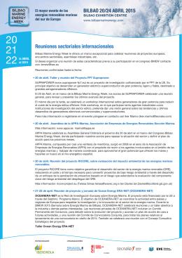 Más información - Bilbao Marine Energy Week