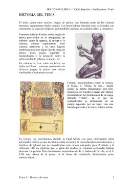 HISTÒRIA DEL TENIS