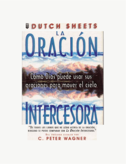 La oración intercesora (Peter Wagner)