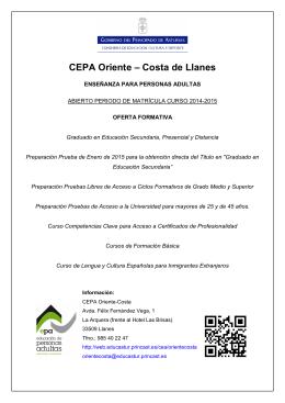 CEPA Oriente – Costa de Llanes