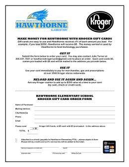 Kroger Cards info and order form