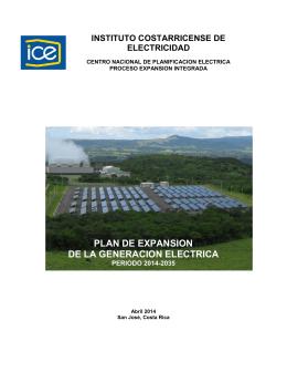 Plan de Expansión de la Generación Eléctrica 2014-2035