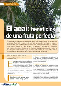 El acai:beneficios de una fruta perfecta