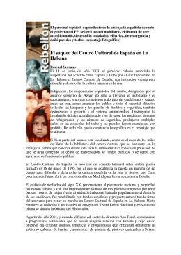 El saqueo del Centro Cultural de España en La Habana