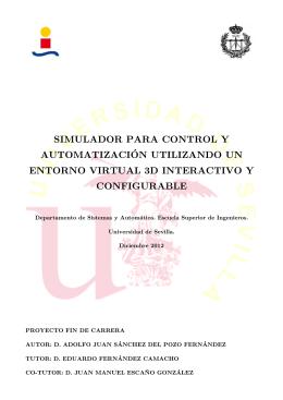 SIMULADOR PARA CONTROL Y AUTOMATIZACION UTILIZANDO