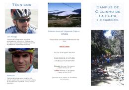 Campus de Ciclismo de la FCPA Técnicos - Valgrande