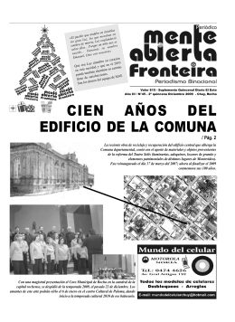 cien años del edificio de la comuna