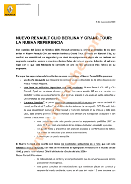nuevo renault clio berlina y grand tour