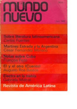 MUNDO NUEVO, Núm. 1, julio 1966.tif