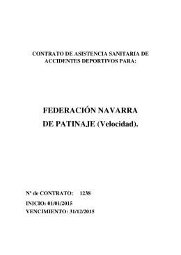 Seguro Deportivo 2015 - Federación Navarra de Patinaje