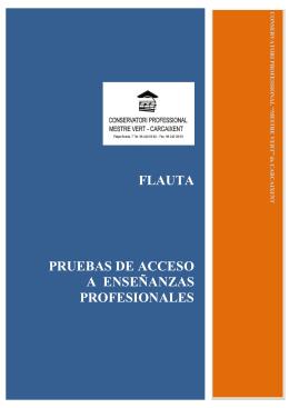 FLAUTA TRAVESERA - Conservatori Mestre Vert