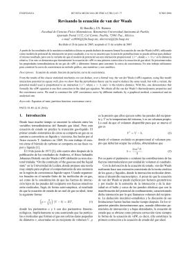 Revisando la ecuación de van der Waals