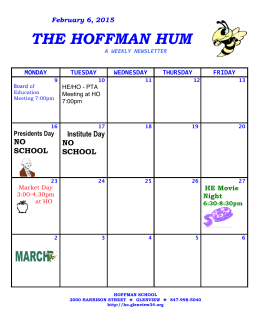 February 6, 2015 THE HOFFMAN HUM