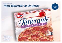 """Pizza Ristorante"" de Dr. Oetker"