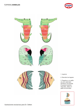 TOPPERS ANIMALES Ilustraciones exclusivas para Dr. Oetker.