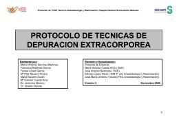 Protocolo de técnicas de depuración extracorporea