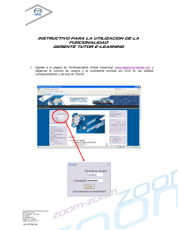 INSTRUCTIVO SUPERVISION - Mazda E