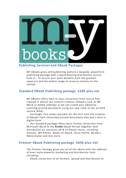 Publishing Services and EBook Packages Standard EBook
