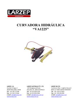 """CURVADORA HIDRÁULICA """"VA1225"""""""