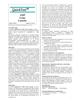 AMP Urine Cassette