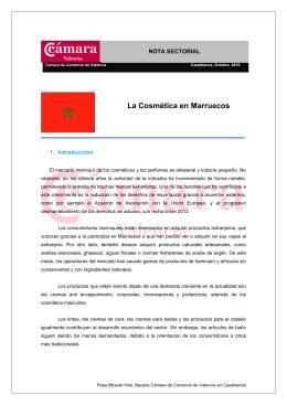 La Cosmética en Marruecos - Cámara de Comercio de Valencia