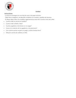 Voleibol Instrucciones: - La tarea se entregara en