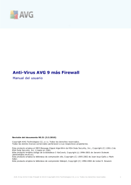 Anti-Virus AVG 9 más Firewall