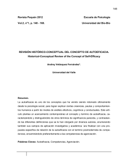 Revisión histórico-conceptual del concepto de autoeficacia