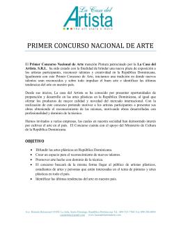 Concurso Cultural de Artes: