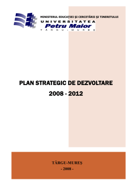 plan strategic de dezvoltare 2008 - 2012