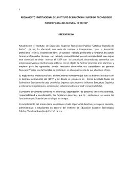 1 reglamento institucional del instituto de educacion superior