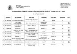 1 LISTA DE PRODUCTORES DE PRODUCTOS