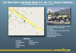 Car One Parts and Body Shop S.A. de C.V., Lázaro