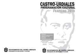 folleto febrero 2014 - Ayuntamiento de Castro Urdiales