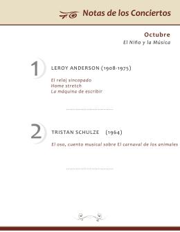 1 leroy anderson - Orquesta Filarmónica de la UNAM