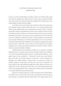 Traducción del artículo de Pietro Citati en