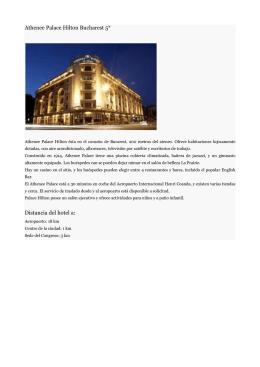 Athenee Palace Hilton Bucharest 5* Distancia del hotel a: