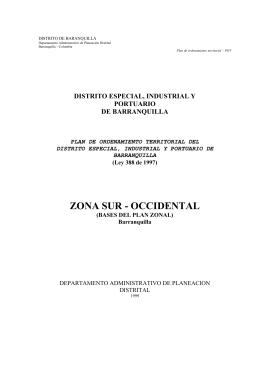 Plan de Ordenamiento Territorial - Barranquilla