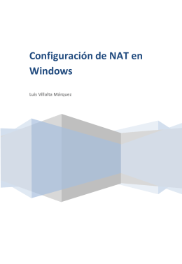 Configuración de NAT en Windows
