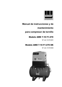 Manual de instrucciones y de mantenimiento para compresor de
