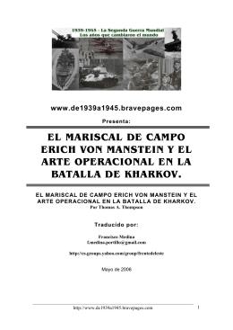EL MARISCAL DE CAMPO ERICH VON MANSTEIN Y - 1939-1945