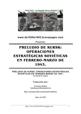 PRELUDIO DE KURSK: OPERACIONES - 1939-1945