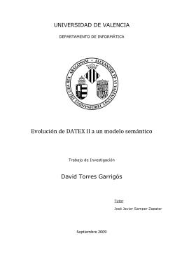 Evolución de DATEX II a un modelo semántico